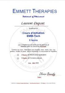 certificat de participation EMM-TECH