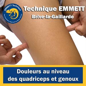 Technique EMMETT douleurs quadriceps et genoux